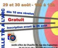 SEANCES DECOUVERTE DU TIR A L'ARC - 29 ET 30 AOÛT